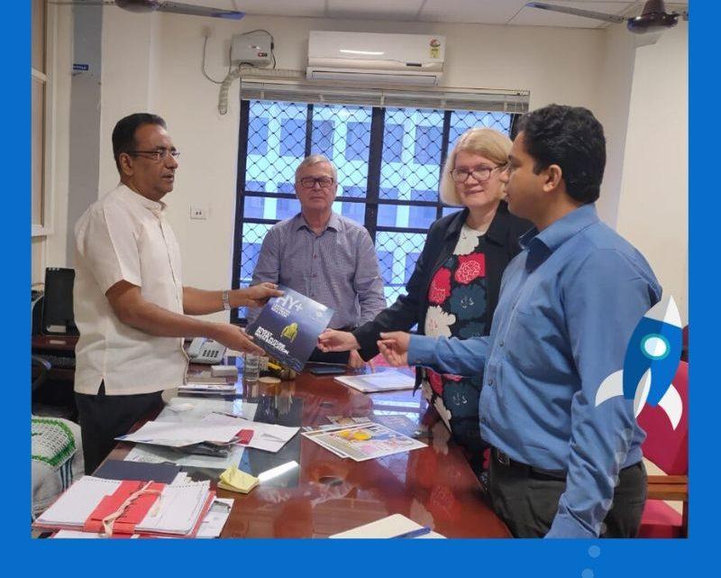Representatives of VentureVillage and HY+ meet Director of General Education in Kerala