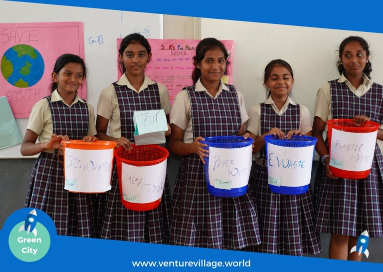Students of Grade 6 and 7 present ideas on waste segregation, Finland Education
